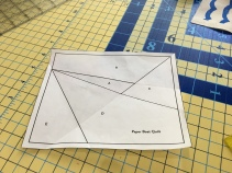 Pre-fold paper on all sew lines