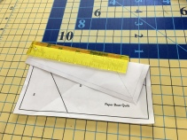 "Trim with 1/4"" ruler"